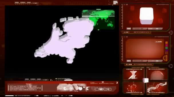 Nizozemsko - počítačový monitor - červená