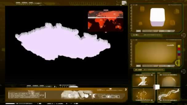 Česká republika - počítačový monitor - žlutá 00. mov