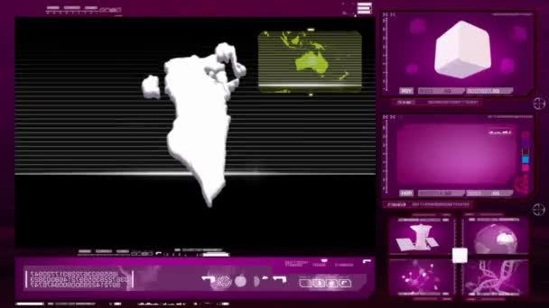 Bahrein - számítógép-monitor - rózsaszín