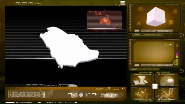 Saudi Arabia - computer monitor - yellow