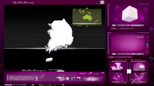 Jižní Korea - počítačový monitor - růžová