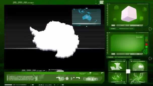 Antarktida - počítačový monitor - zelená