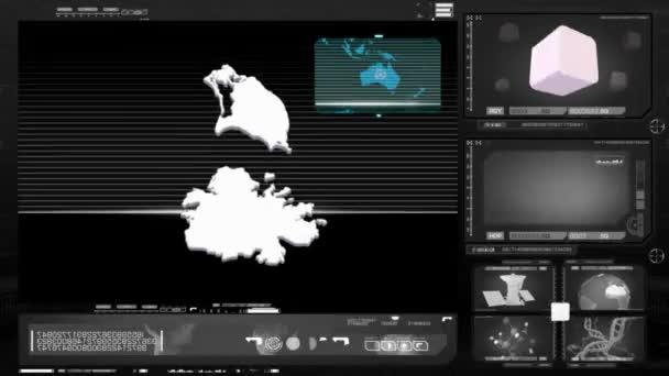 antigua and barbuda - computer monitor - black 0