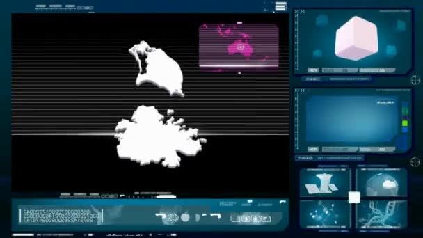 antigua and barbuda - computer monitor - blue 0