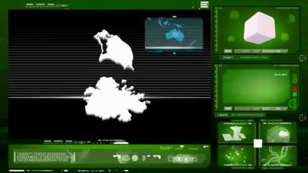 antigua and barbuda - computer monitor - green 0