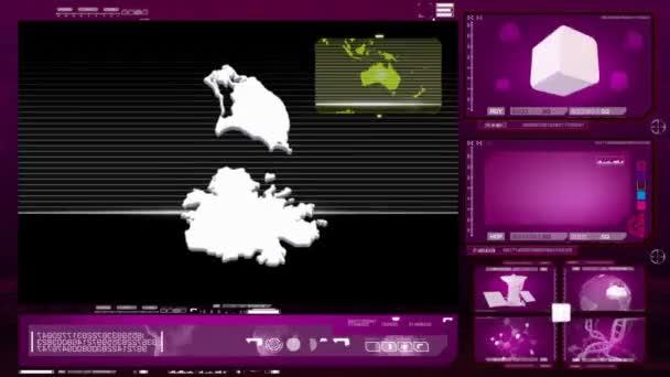 antigua and barbuda - computer monitor - pink 0