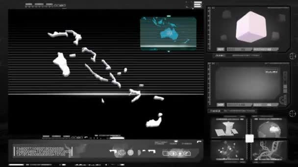 Bahamy - počítačový monitor - černá 0