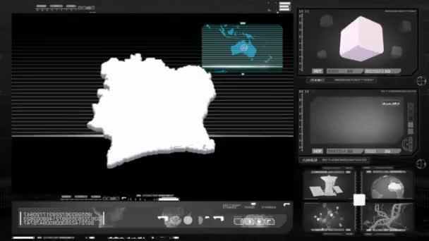 Pobřeží slonoviny - počítačový monitor - černá 0