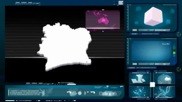 ivory coast - computer monitor - blue 0