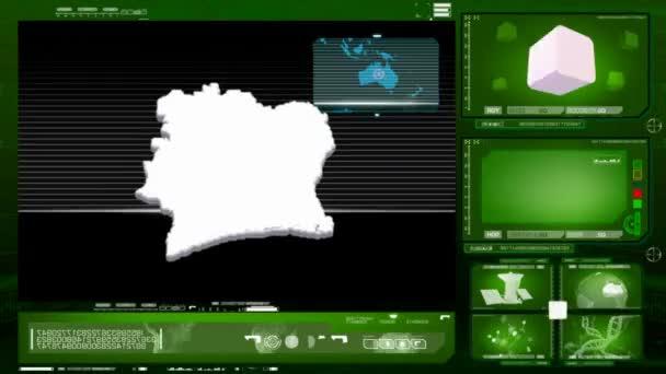 ivory coast - computer monitor - green 0