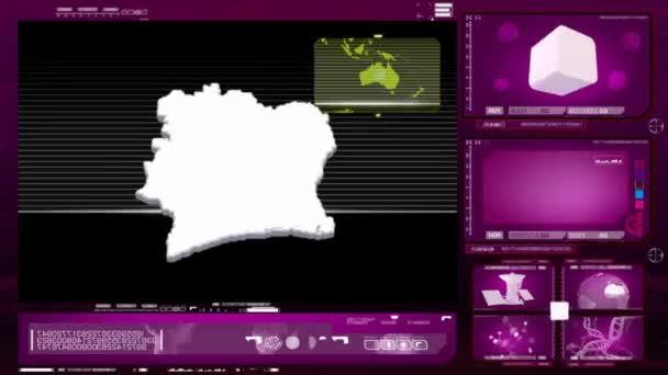 ivory coast - computer monitor - pink 0