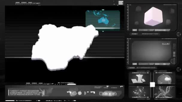 Nigérie - počítačový monitor - černá 0