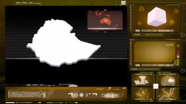 ethiopia - computer monitor - yellow 0