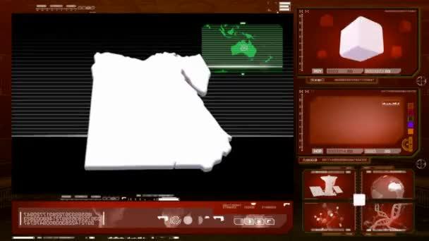 Egyiptom - számítógép-monitor - piros 0