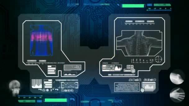 Trávení - naskenované softwarem - modrá
