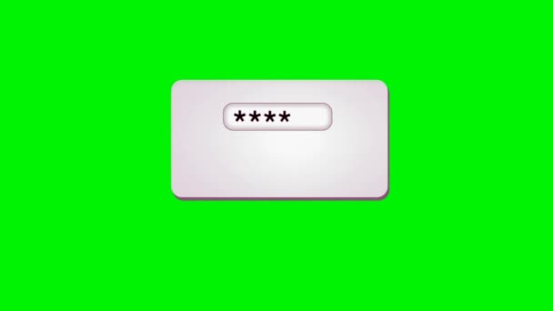 Password - Loading Bar - Green Screen - pink 00