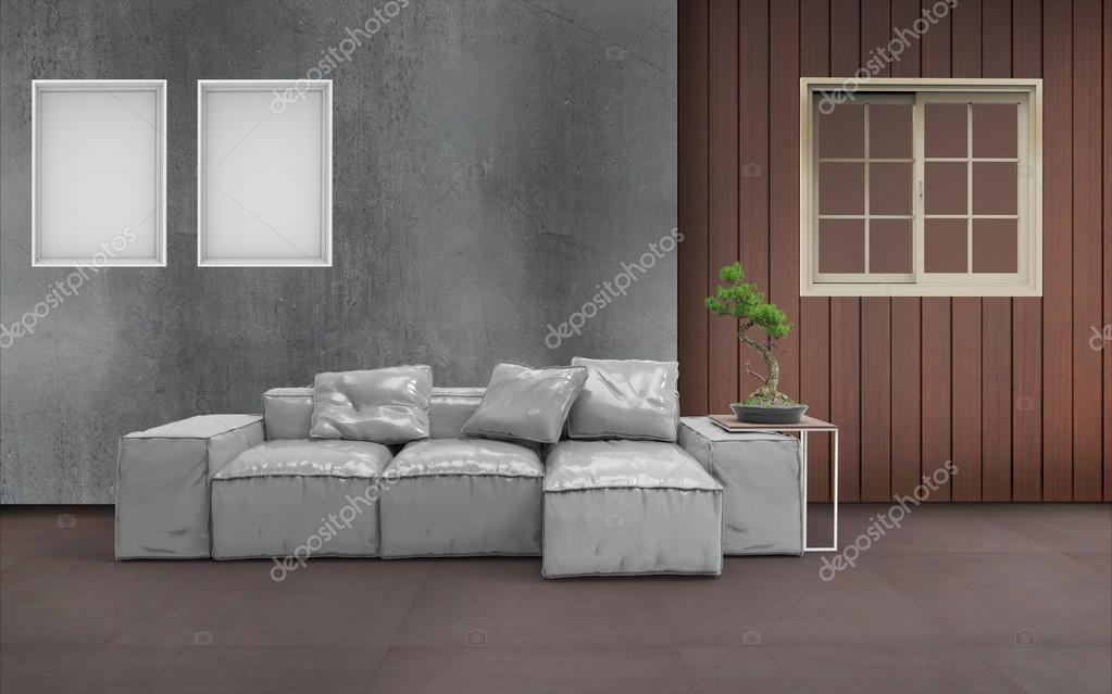 Set de salon moderne bureau à domicile rendu d image