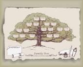 Hand-drawn family tree