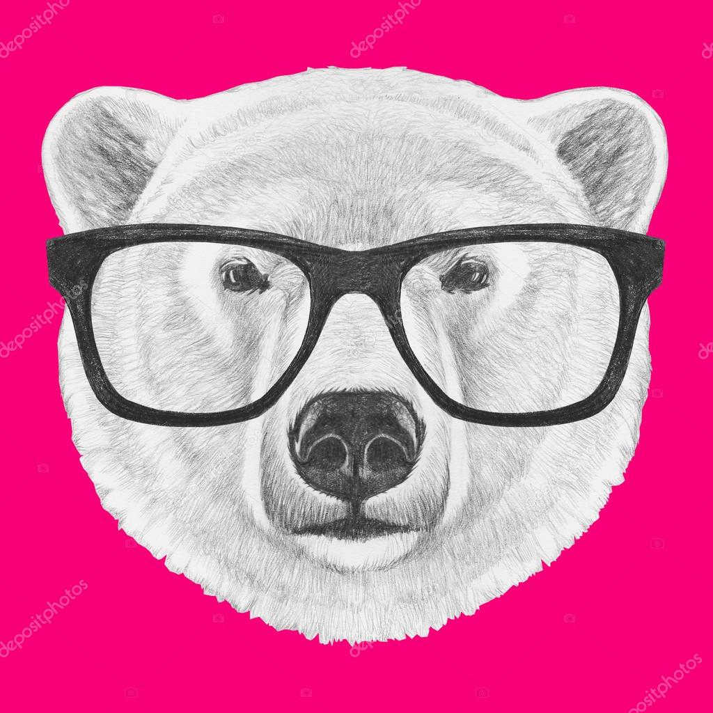 defdd4451eb77 Polar Bear with glasses — Stock Photo © Victoria Novak  110614096