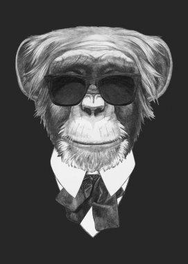 fashion Illustration of Monkey