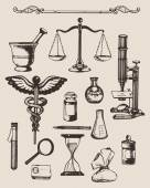 Fotografie elements of pharmacy or chemistry