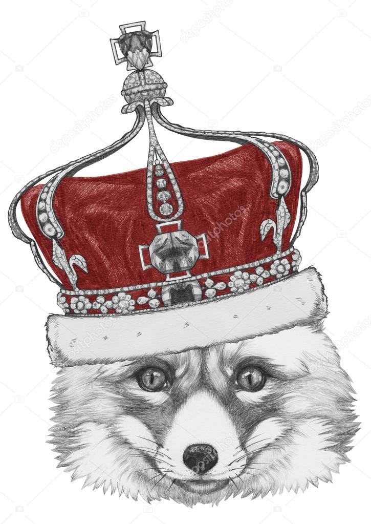 жидкости картинка лиса с короной отечественные