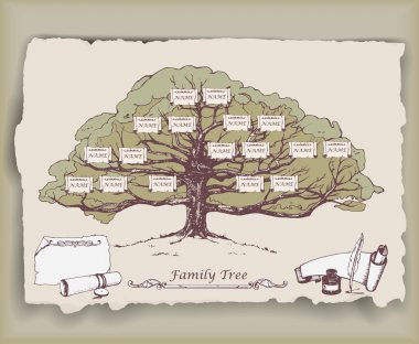 family tree with decorative elements