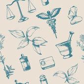 Fotografie Seamless pattern elements of pharmacy