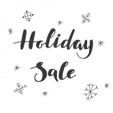 Holiday sale lettering