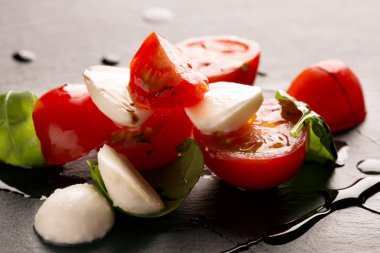 Caprese salad on the plate
