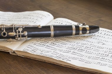 Clarinet and musical score