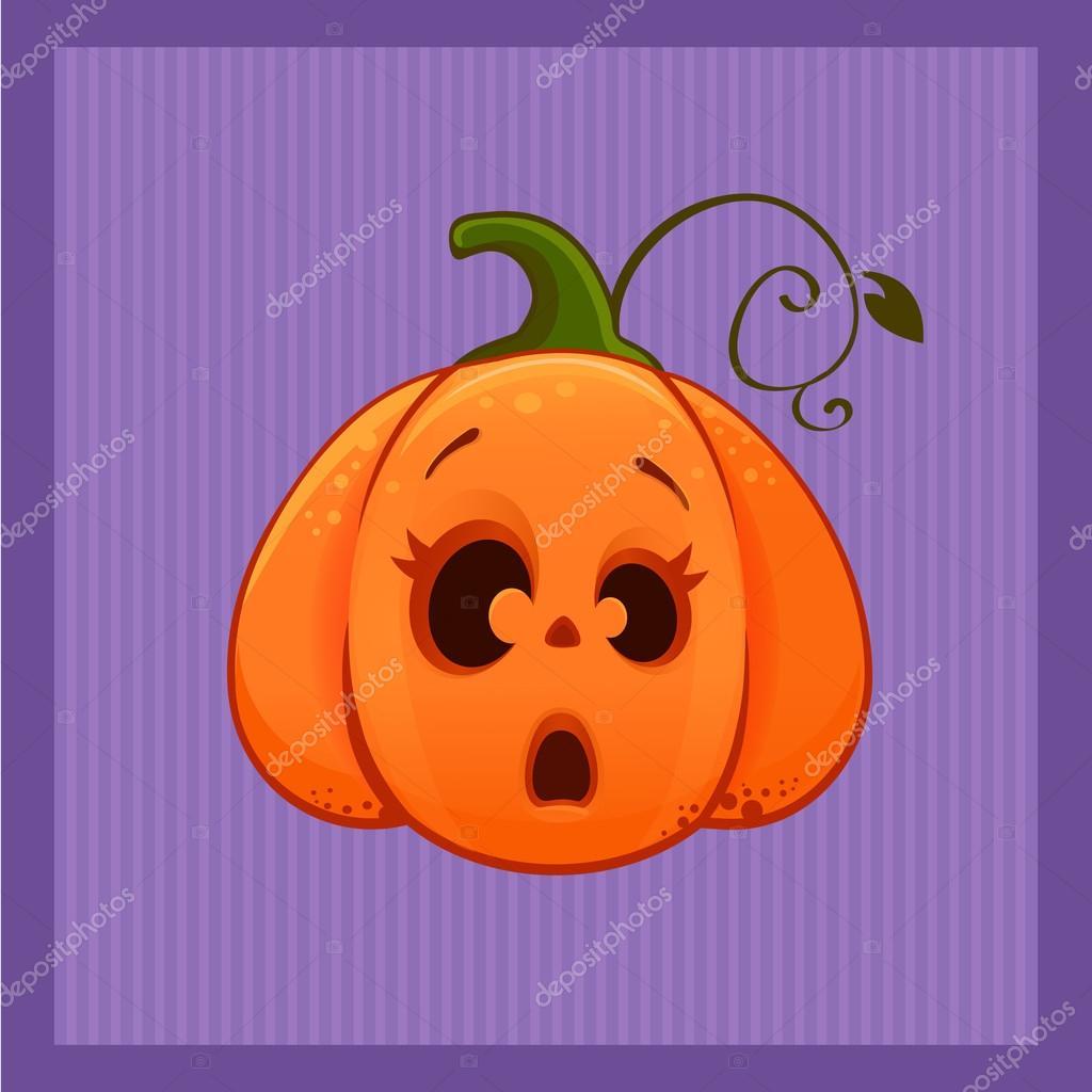 Illustration Vectorielle D Une Citrouille D Halloween Peur