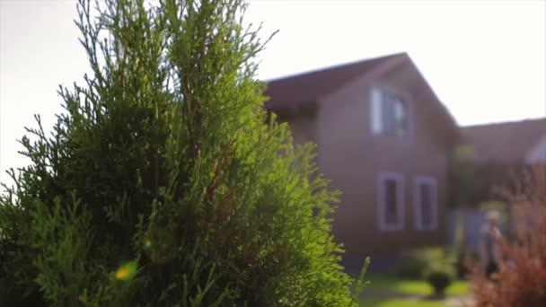 Hnědý dům s nádhernou zahradou ve venkovské oblasti