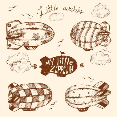 collection of cute little airchips with strips