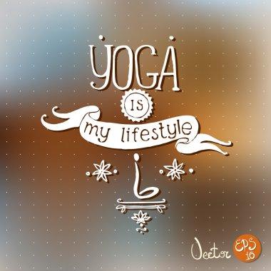 Font composition hand drawn - yoga