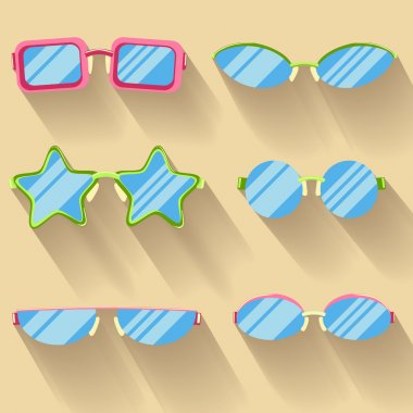 Collection of colored flat glasses