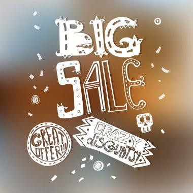 Big sale. Design label