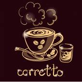 šálek kávy corretto
