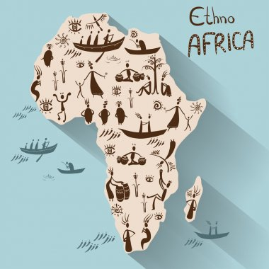 Mainland Africa in ethnic style