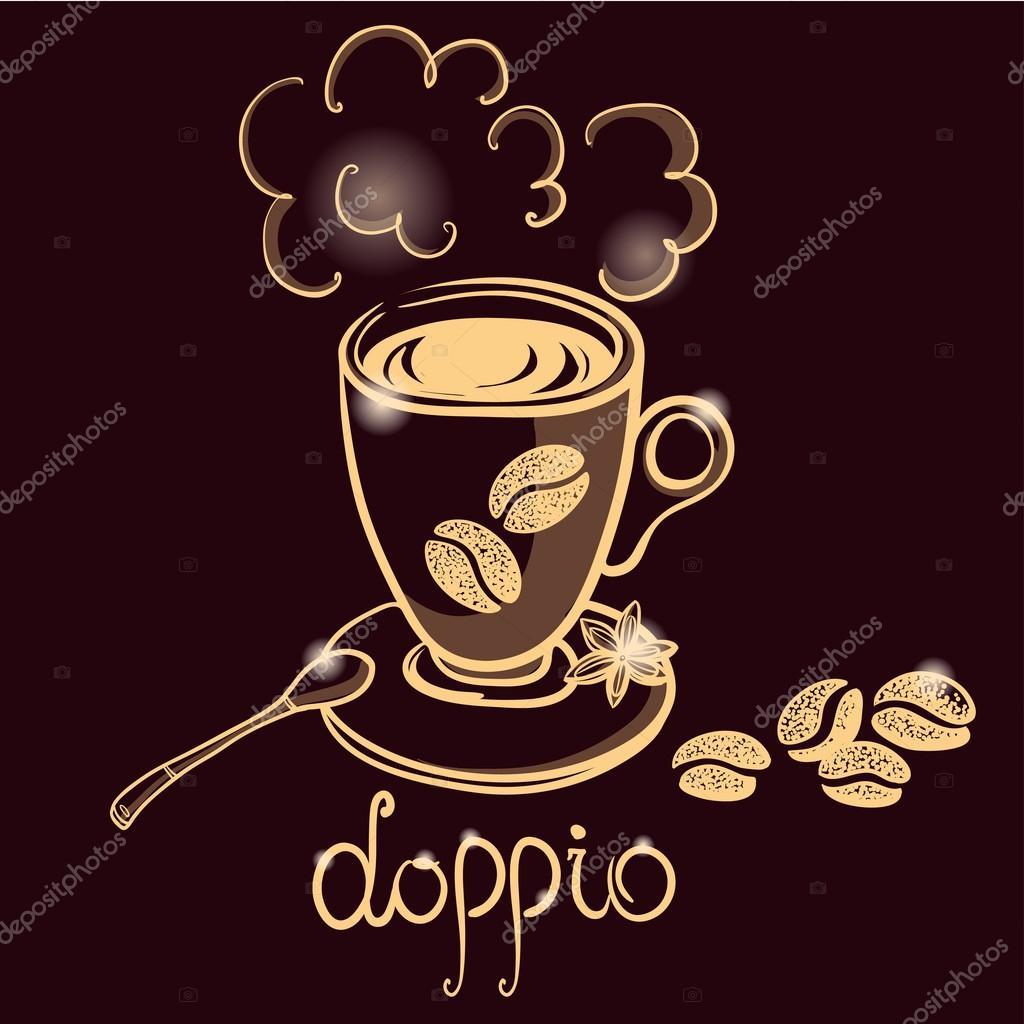 Beste Tazza di caffè doppio — Vettoriali Stock © dinkoobraz #81005512 CH-26