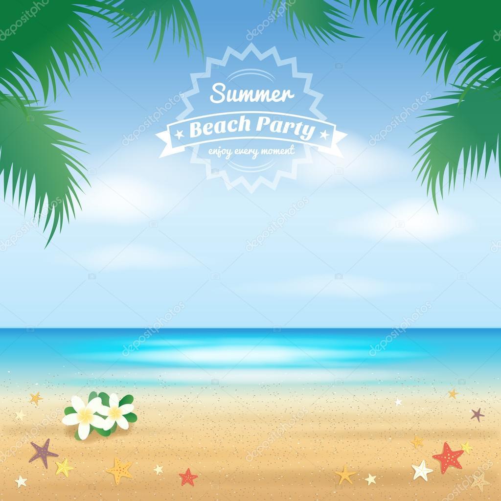 Summer beach party, he...