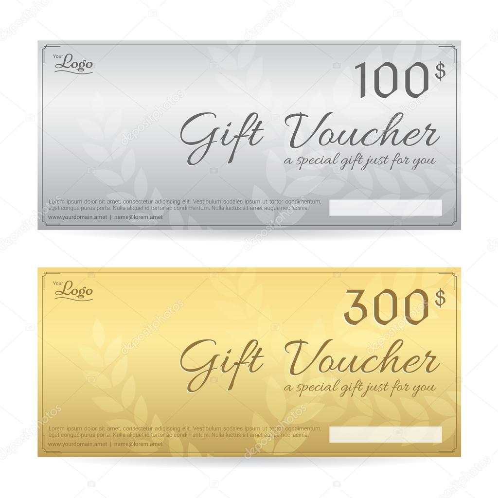 Gift voucher or gift certificate template in luxury gold and gift voucher or gift certificate template in luxury gold and silver theme stock vector yelopaper Images
