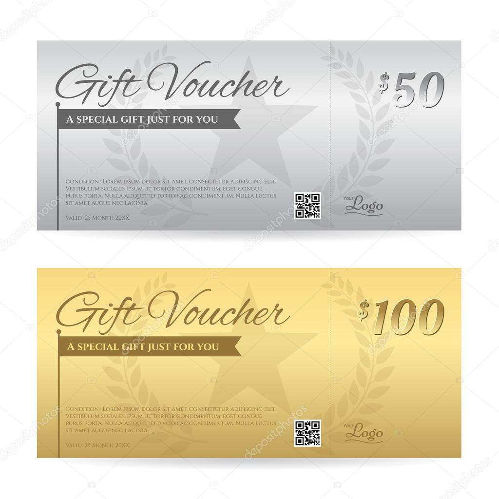 Elegant gift voucher or gift card certificate template in gold a elegant gift voucher or gift card certificate template in gold a stock vector yelopaper Images