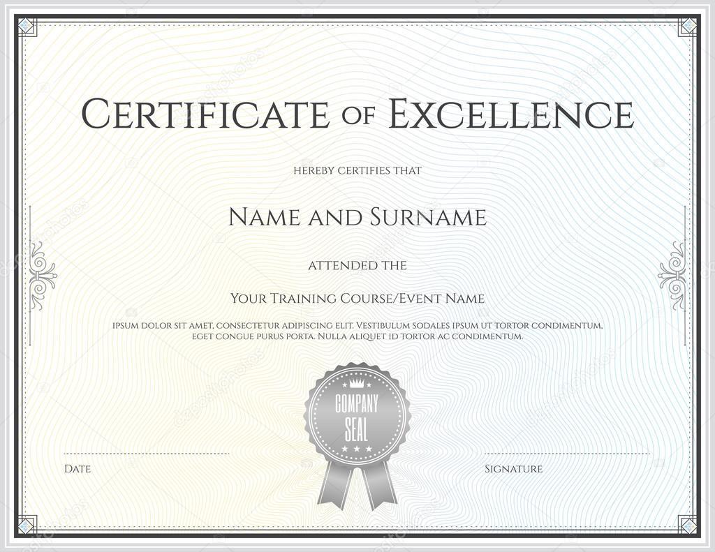 Plantilla de certificado en vector para terminación de graduación de ...