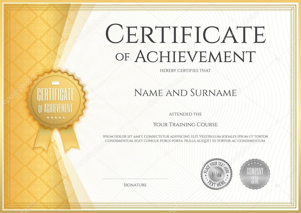 Certificado de plantilla logro en vector con línea tailandés ...