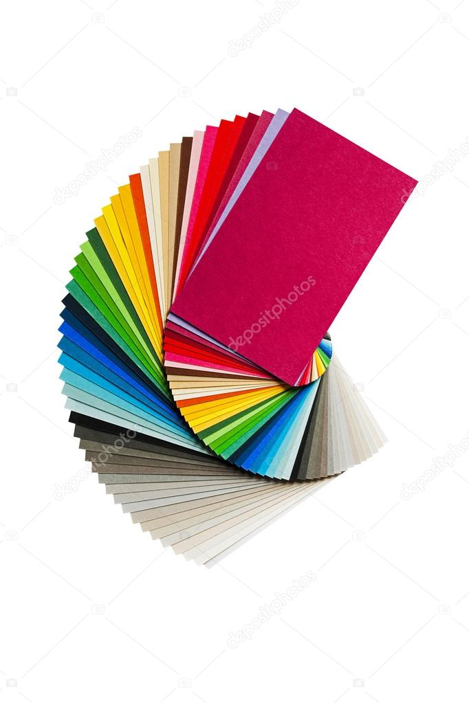 Color Chart With Rainbow Paper Palette Stock Photo Franh 80454308