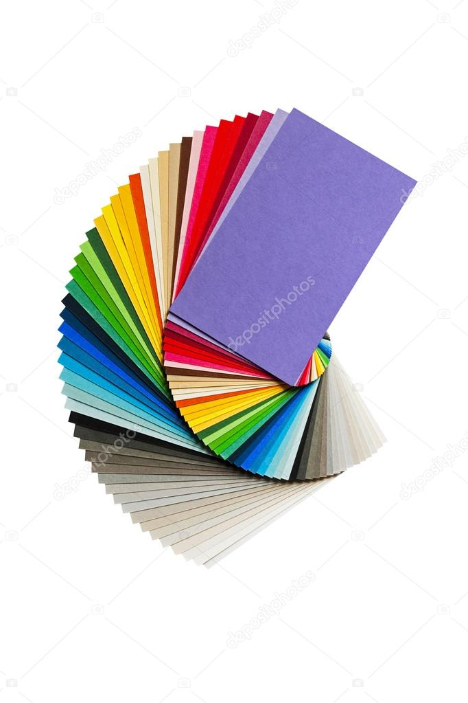 Color Chart With Rainbow Paper Palette Stock Photo Franh 80600252