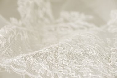 White wedding lace for a wedding dress or a bridal gown stock vector