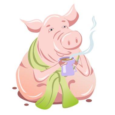 Pig flu sick
