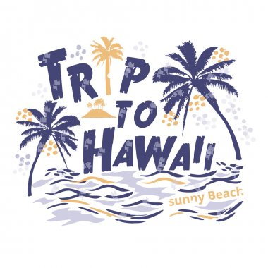 print T-shirts for the palm trees and beach